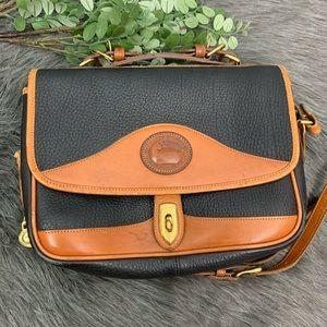 Vintage Dooney & Bourke Leather Flap Purse USA